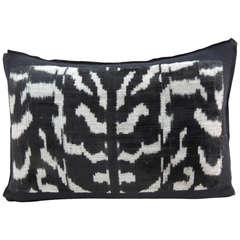 Vintage Zebra Silk Velvet Pillow.