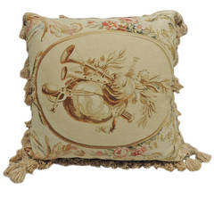 Large Tapestry Pillow with Tassels