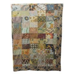 Large Patchwork Batik Indian Blanket