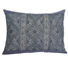 Large Indigo Fez Embroidery Bolster Pillow