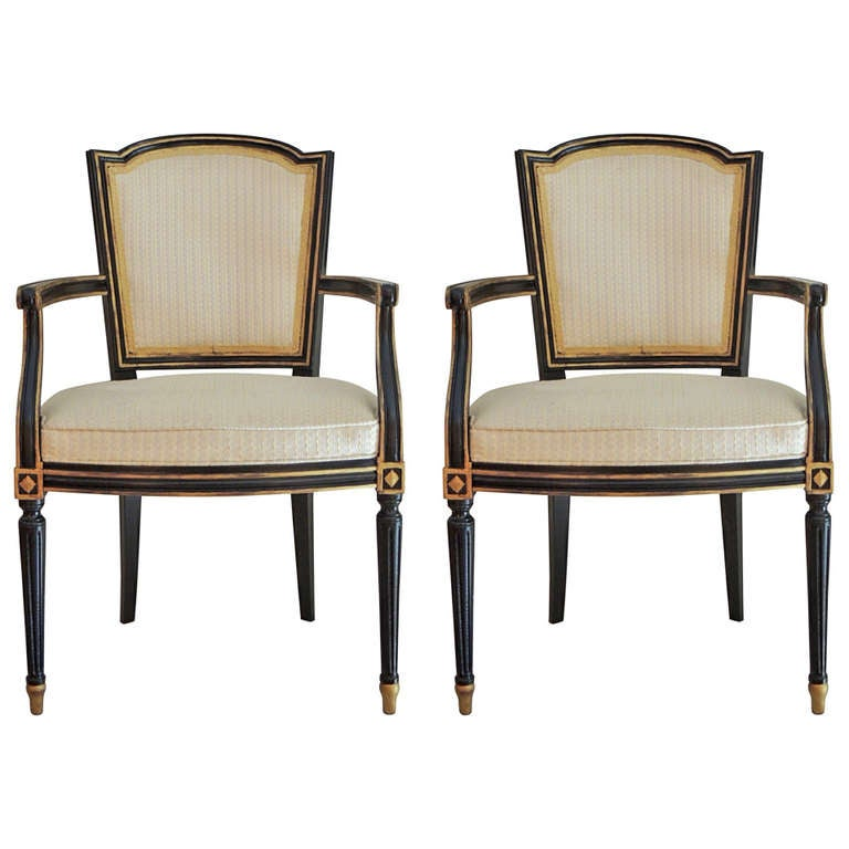 Chambre A Coucher Au Maroc : Pair of Maison Jansen Arm Dining Chairs at 1stdibs