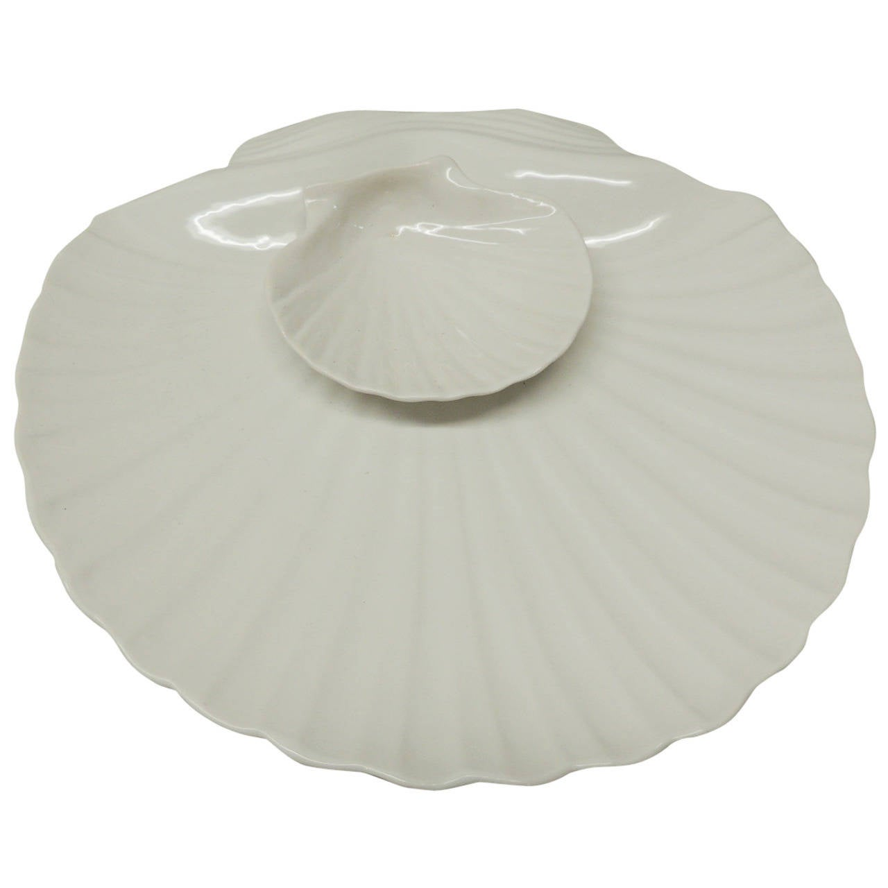 Clam Sea Shell Serving Dish At 1stdibs