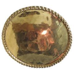 Large Round Polished Brass Tray