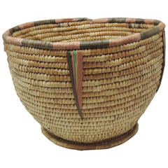 Round American Indian Tribal Basket