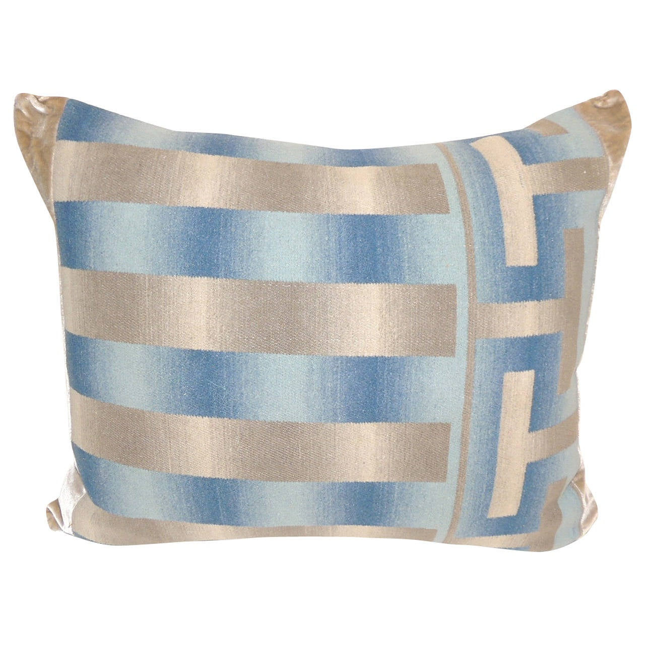 French Blue Throw Pillows : French Blue Wool Pillow at 1stdibs