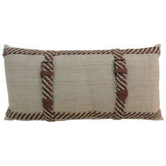 "Vintage ""Belt"" Bolster Pillow"