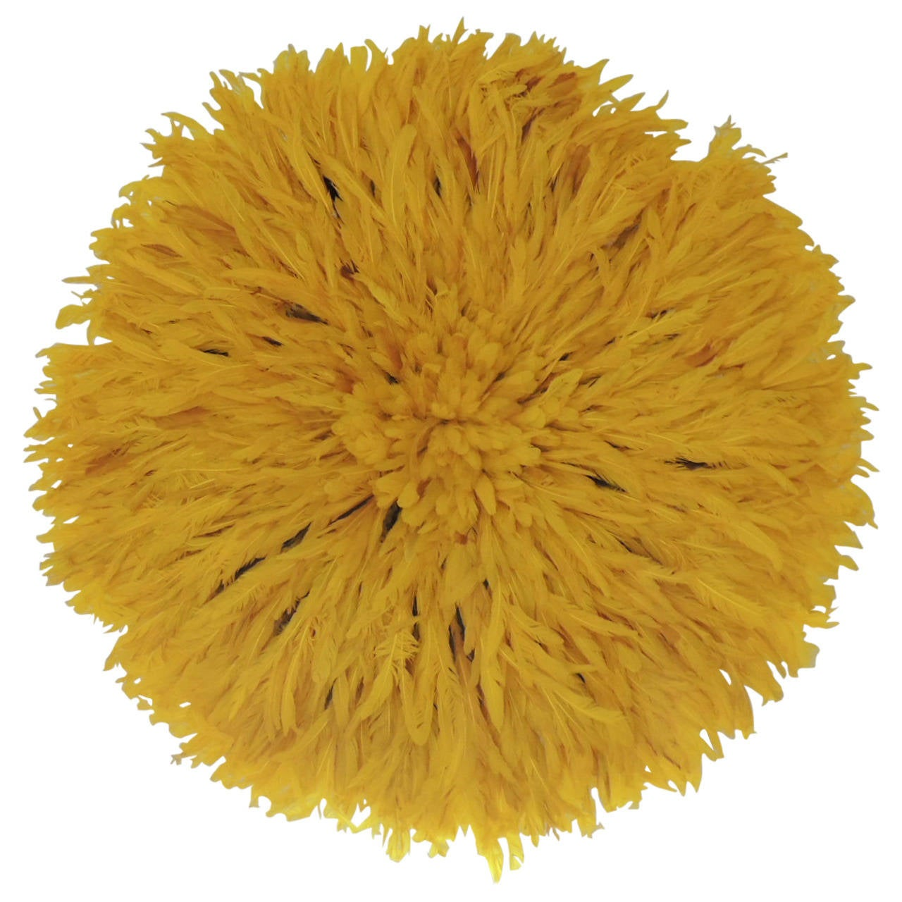 Large yellow african wall decoration hat at 1stdibs for African wall decoration