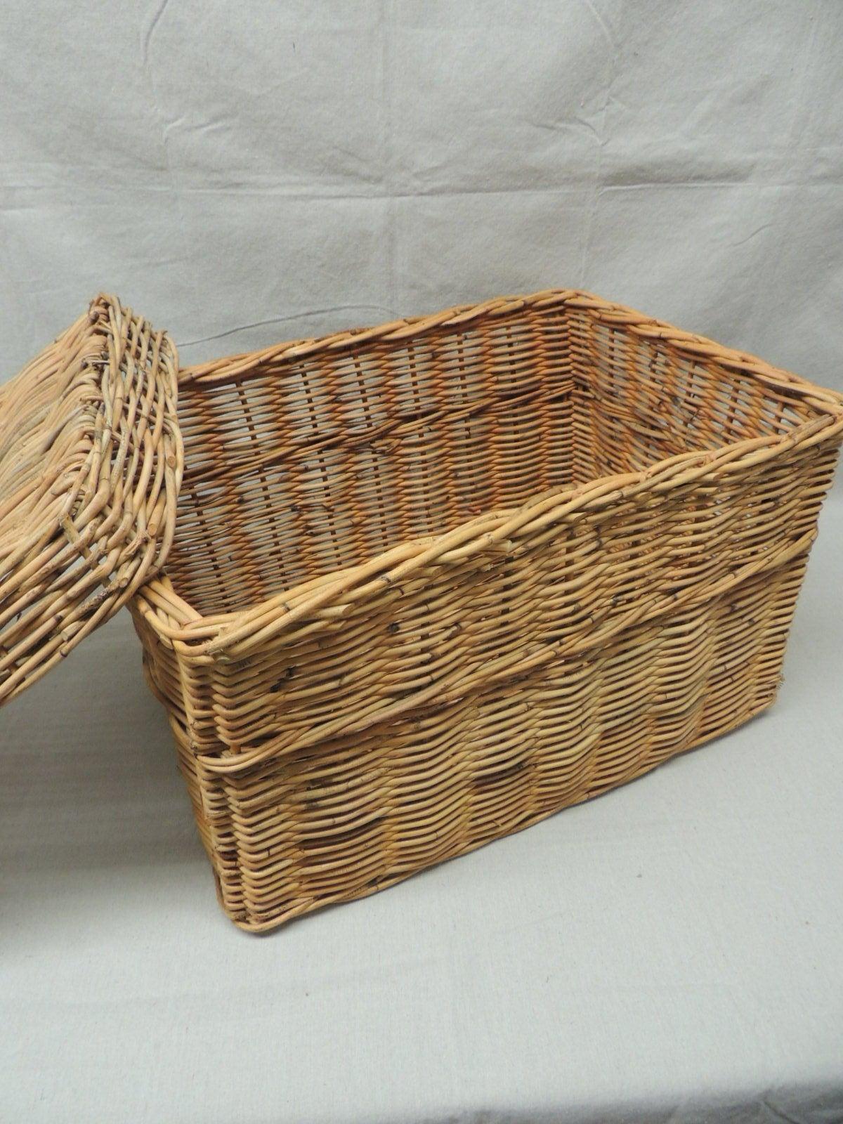 Tall decorative wicker baskets :