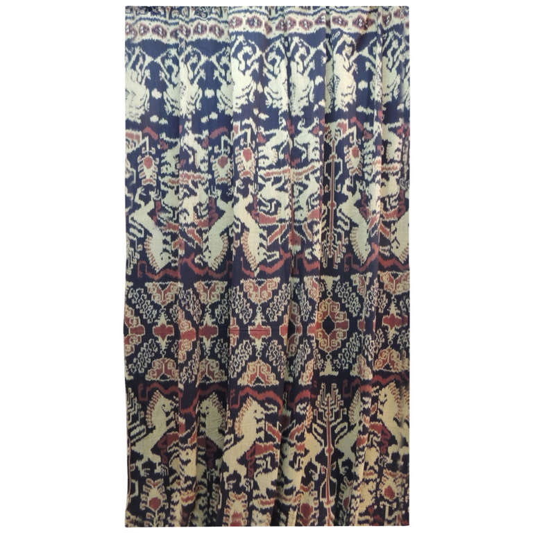Antique Ceremonial Ikat Textile or Wall Tapestry