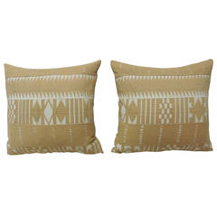 Pair of Striped African Pillows