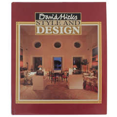 Interior Designer David Hicks Style & Design First Edition Book 1987.