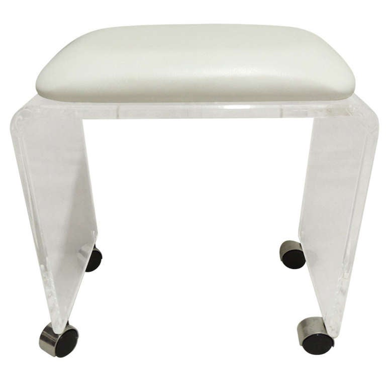 Lucite vanity stool - Acrylic vanity chair ...