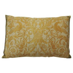 Vintage Yellow Fortuny Bolster Pillow