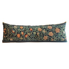 Antique Arts & Crafts Tapestry Bolster Pillow