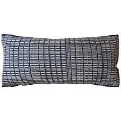 Vintage Japanese Blue and White Bolster Pillow