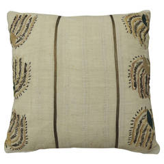 Metallic Threads Turkish Embroidery Pillow