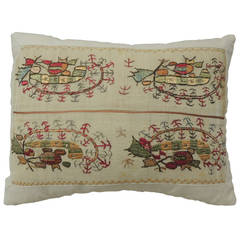 Paisley Turkish Embroidery Lumbar Pillow