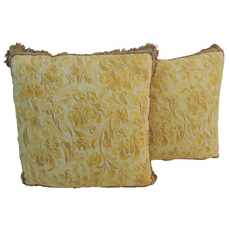 Decorative Pillows Small : Pair of Small Fortuny Decorative Pillows. at 1stdibs