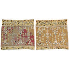 Pair of 18th Century Embroidery Panels