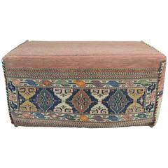 Anatolian Kilim Rug Ottoman