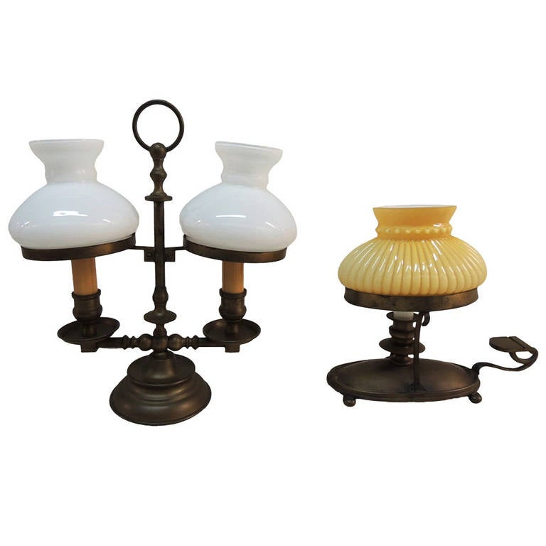 Small Decorative Lamp: Pair Of Small Antique Brass Decorative Lamps At 1stdibs