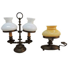 Pair of Small Antique Brass Decorative Lamps