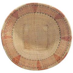 Vintage Orange African Basket.