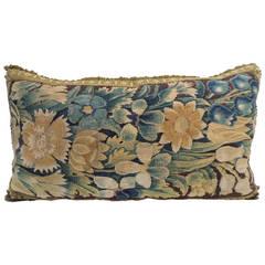 Antique Verdure Tapestry Bolster Pillow.