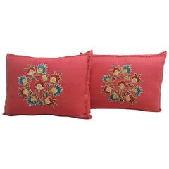 Pair of Moroccan Embroidered Pillows