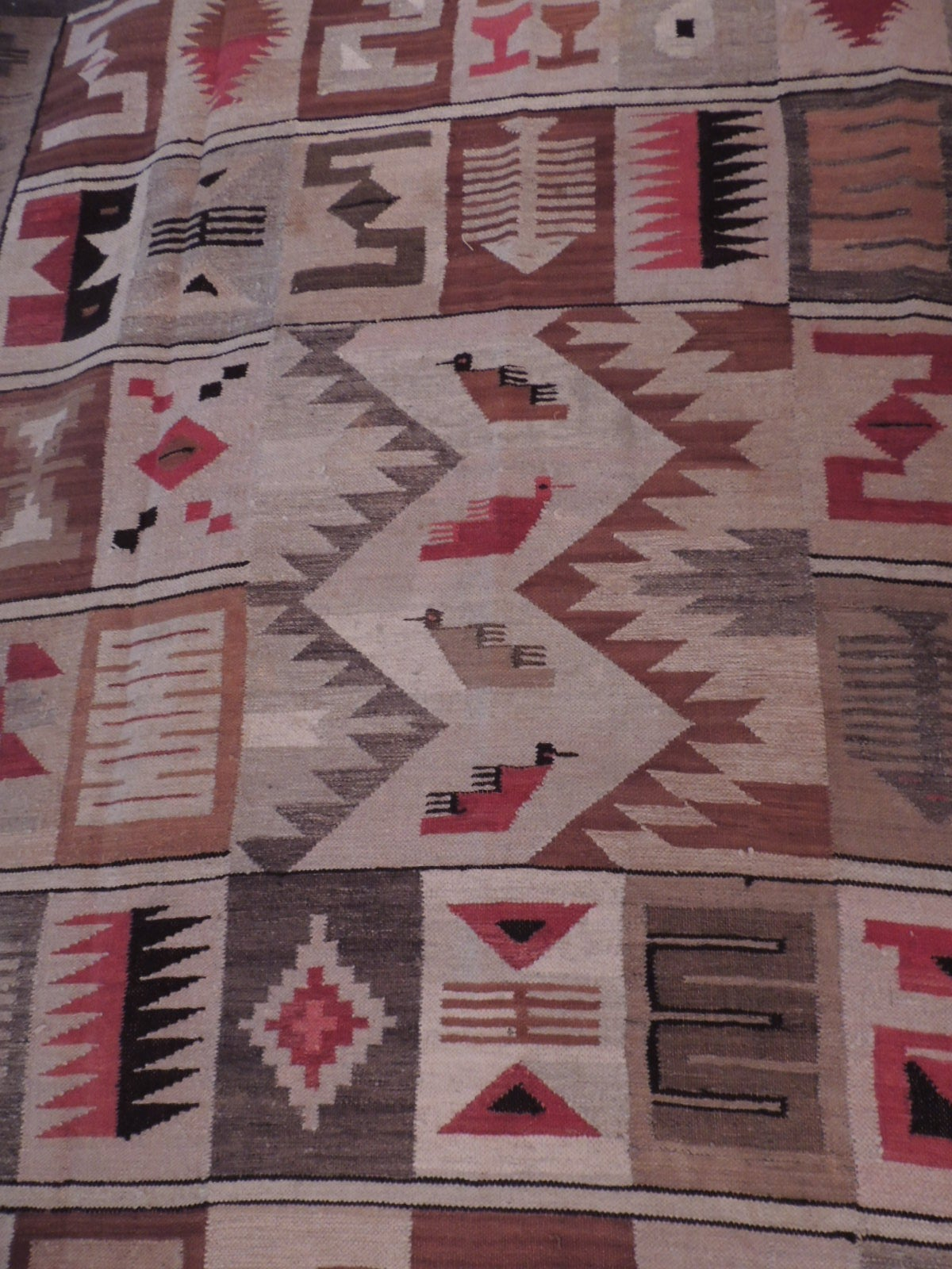 Peruvian Tribal Design Alpaca Rug At 1stdibs