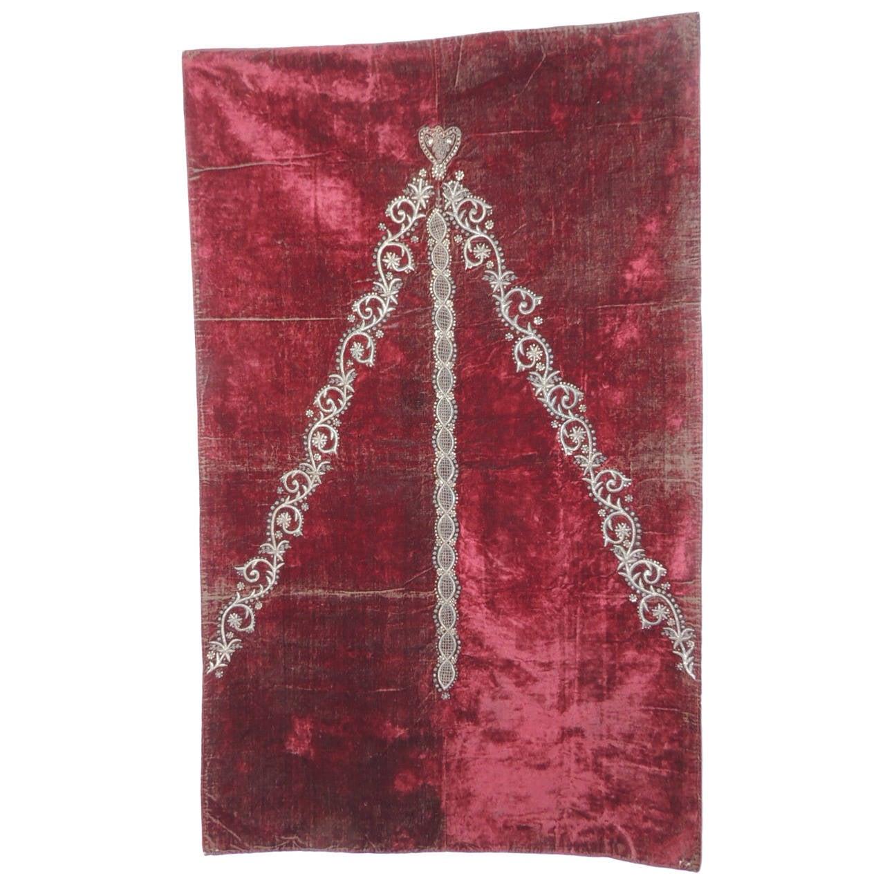 19th Century Bindalli Textile With Metallic Embroidery