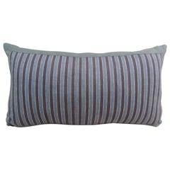 Japanese Indigo Stripe Linen Lumbar Decorative Pillow
