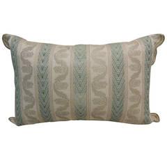 Silk Brocade Stripe Pillow.