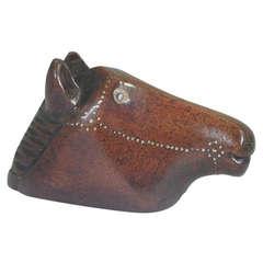 Antique Horse Head Snuff Box