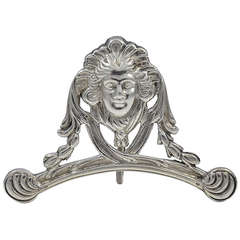 Antique Silver Menu Holder