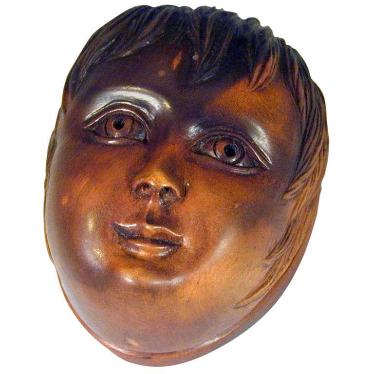 Antique Snuff Box of a Head of a Boy