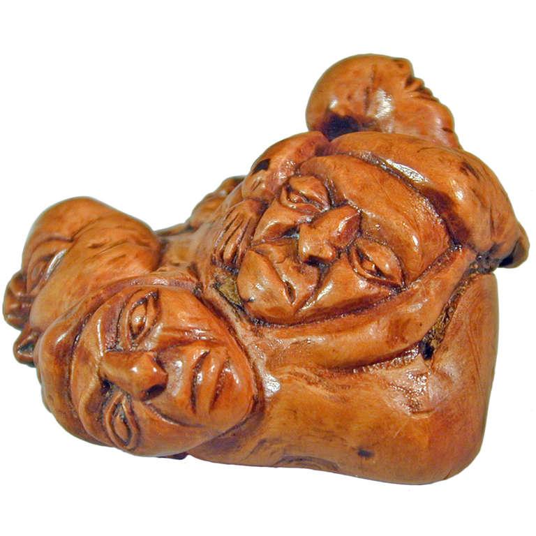 Antique Five Faces Snuff Box