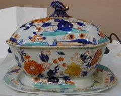 Antique Mason's Ironstone Soup Tureen with Undertray