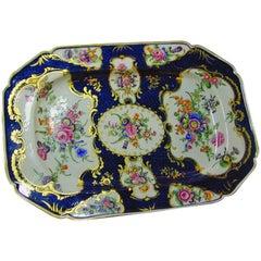 18th Century Dr. Wall Worcester Soft Paste Porcelain Platter