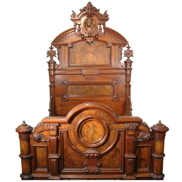 Renaissance revival bed and vanity at 1stdibs