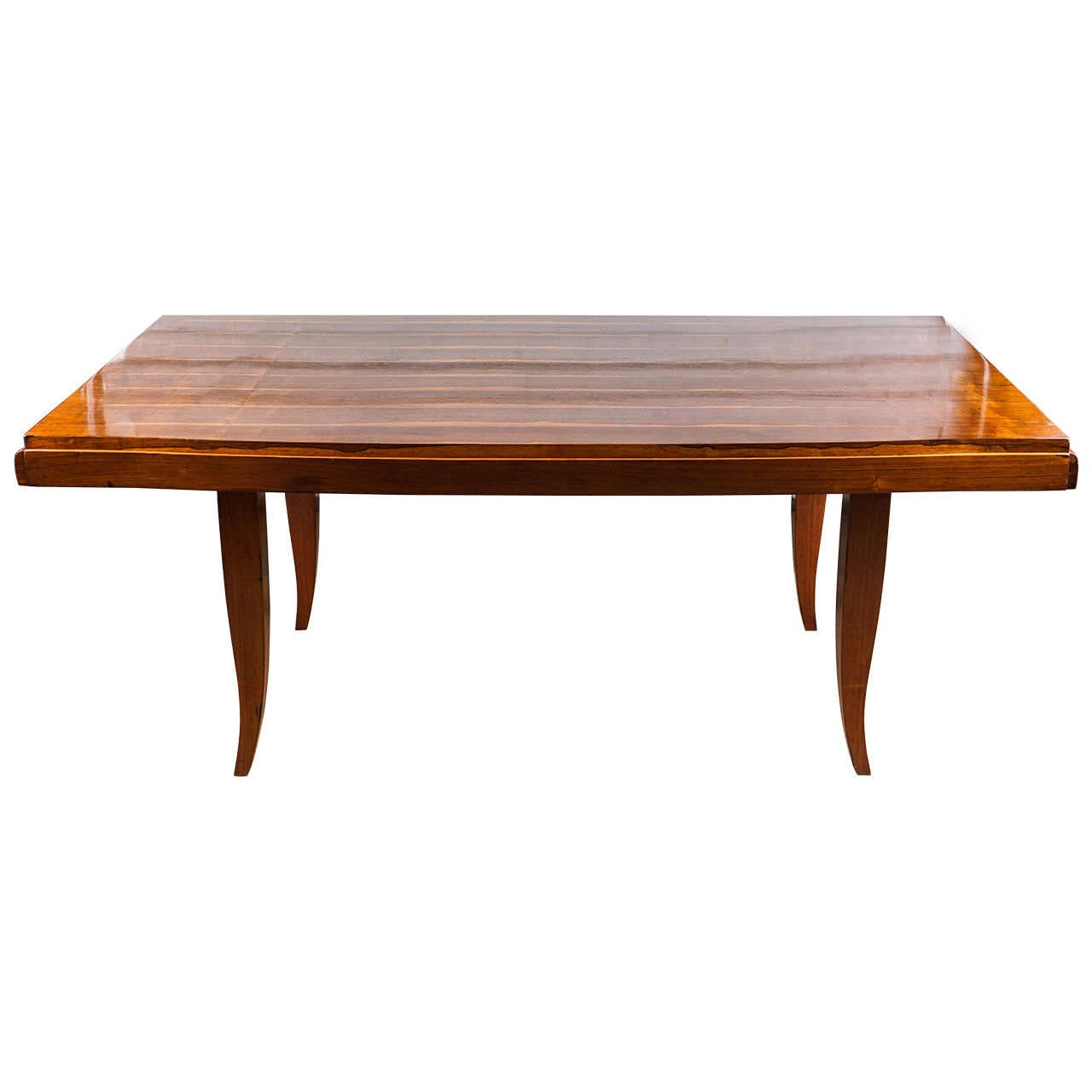 French art deco inlaid rosewood dining room table at 1stdibs - Art deco dining room table ...