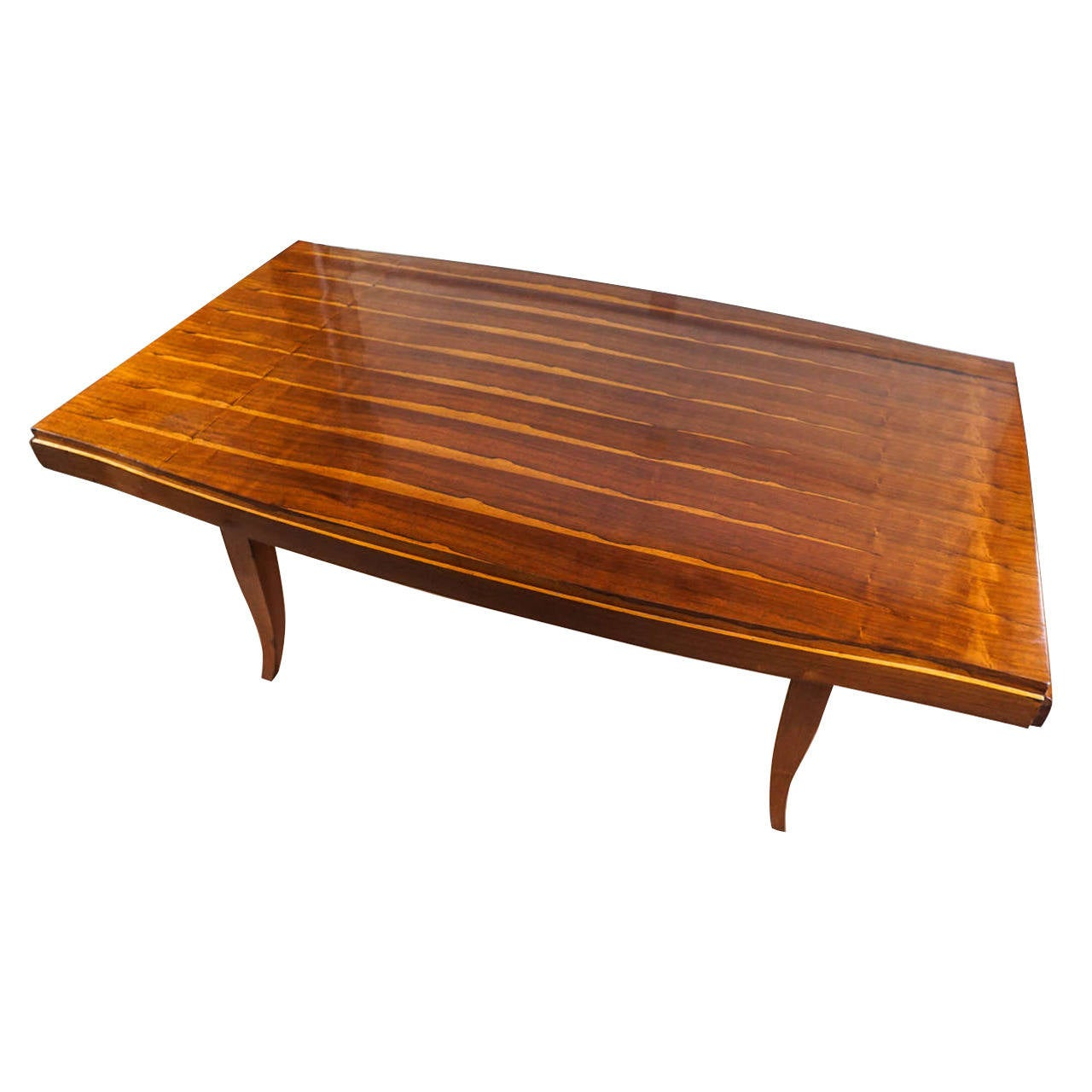 French Art Deco Inlaid Rosewood Dining Room Table At 1stdibs