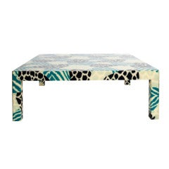 Graphic 1980s Acrylic Coffee Table