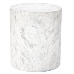 Marble Cylinder Stool by Kelly Wearstler