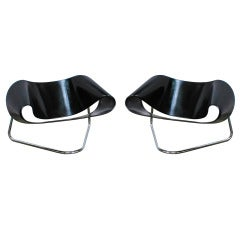 A Pair of Ribbon CL9 Ribbon Chairs, by Cesare Leonardi & Franca Stagi