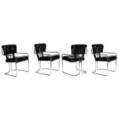 A Set of Four Tucroma Dining Chairs by Mariani for Pace Collection