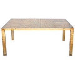 Perforated Dining Table by Kelly Wearstler