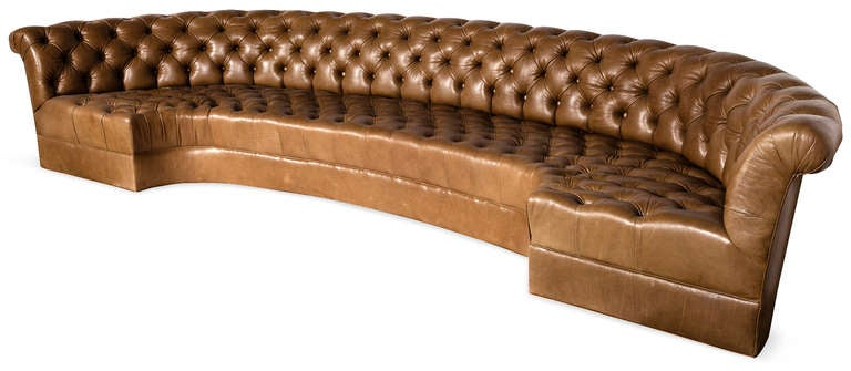 an oversized set of tufted chesterfield banquettes at 1stdibs. Black Bedroom Furniture Sets. Home Design Ideas