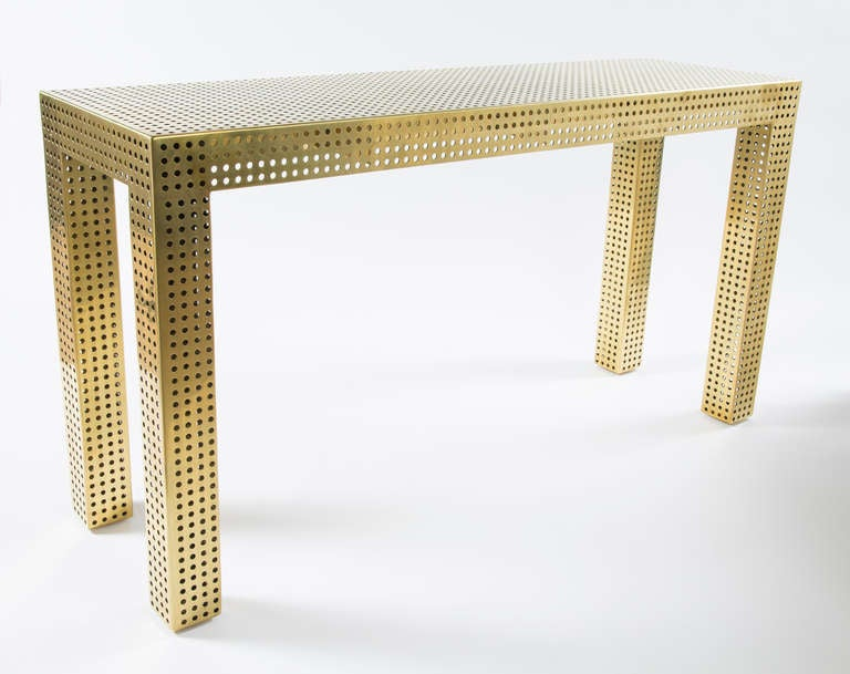 Bronze Precision Console Table At 1stdibs