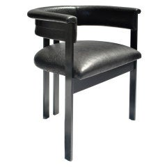 Solid Gunmetal Brass Elliott Chair by Kelly Wearstler